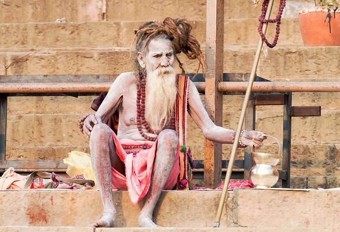 Ascetic Sadhus in Varanasi